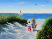 cape cod seascape paintings, cape cod oil paintings, cape cod seascapes